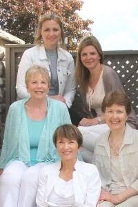 Melony Teague, Glenda Dekkema, Carol Ford, Claudia Loopstra and Marguerite Cummings authors of As the Ink Flows devotional